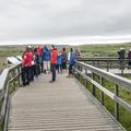A walkway upstream of the falls.- Gullfoss