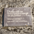 A plaque on the rock.- Goðafoss