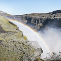 Getting closer to the waterfall's mist.- Dettifoss