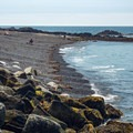 The eastern section of Middle Beach.- Middle Beach in Kennebunk