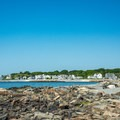 A view west to Middle Beach from Oaks Neck.- Middle Beach in Kennebunk