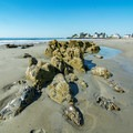 Rock formations on the beach.- Mother's Beach