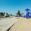 A child's playground sits at the western end of the beach.- Mother's Beach