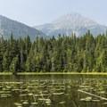 Stanton Mountain behind Johns Lake.- Johns Lake Loop Hike