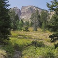 Popping out of the early forest gives you some great views of Deseret Peak (11,033 ft).- South Willow Lake Trail