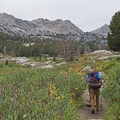 Heading out with perfect backpacking weather.- Liberty Lake Backpacking