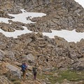 Patches of snow in September.- Liberty Lake Backpacking