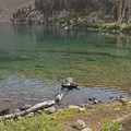 The water is so clear.- Liberty Lake Backpacking