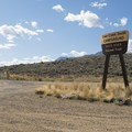 Entry to Cow Creek South Campground.- Cow Creek South Campground