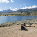 One of the best sites at Creek South Campground with the Gore Mountains in the background. The 13,420-foot Eagles Nest is at right.- Cow Creek South Campground