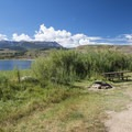 Typical campsite at Creek South Campground.- Cow Creek South Campground