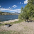 One of the best sites at Creek South Campground.- Cow Creek South Campground
