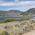 View of Green Mountain Reservoir from Creek South Campground.- Cow Creek South Campground