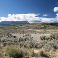 The concentrated camping area at Creek South Campground.- Cow Creek South Campground