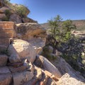The cut rock stairs make this hike a really cool trek.- Kachina Bridge Trail