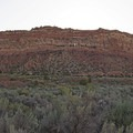 Just west of the ridge is an unmarked dirt road (Comb Wash Road) heading south, where you can get a better look.- Comb Ridge Monocline