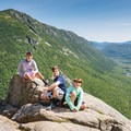 The hike is suitable for a range of ages. Route 302 down below.- Mount Willard Hike