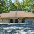 The bathhouses are both centrally located.- Bull Run Campground