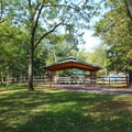 One of the many picnic shelters at Bull Run Regional Park. - Bull Run Campground
