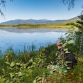 The northern Presidential Range from the Shore Path.- Pondicherry Wildlife Refuge
