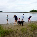 Fun day for the whole family, pups included.- Rome Point in Bissel Cove