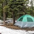 Camping at Lewis Lake.- Lewis Lake Campground