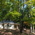 Cottages are available for rent.- Vogel State Park