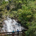 Viewing platform up close to the falls.- Anna Ruby Falls