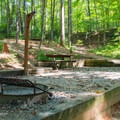 Each site has picnic table, fire ring, and grill.- Unicoi State Park Campground