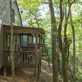 Cabins are available for rental near the lake.- Unicoi State Park Campground