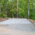 One of many car/tent sites at Unicoi.- Unicoi State Park Campground