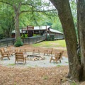 The visitor center and check-in is right next to the campground.- Unicoi State Park Campground