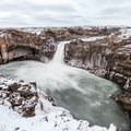Architecture formed by Trolladyngja and Fjarborg over 9,500 years ago.- Aldeyjarfoss