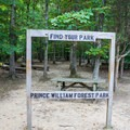 Prince William Forest Park sign. - Prince William Forest Park