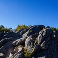 Scramble up the remaining rocks to the true summit. - Marys Rock