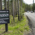 Madison Campground entrance.- Madison Campground