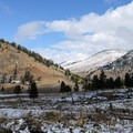 Catch sight of Buffalo Mountain on the other side of the Black Canyon of the Yellowstone.- Rescue Creek
