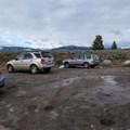 Parking at Blacktail Creek Trailhead (1N5).- Rescue Creek
