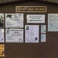 Entering Wildwood, the sign for Boulder Ridge.- Huckleberry Mountain via Boulder Ridge