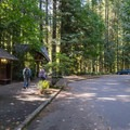 Parking lot. Restrooms are available.- Huckleberry Mountain via Boulder Ridge