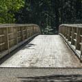 Bridge across the Salmon River.- Huckleberry Mountain via Boulder Ridge