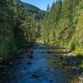 Salmon River looking north.- Huckleberry Mountain via Boulder Ridge