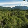 First viewpoint.- Huckleberry Mountain via Boulder Ridge