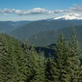 Mount Hood and the valley from Huckleberry Mountain.- Huckleberry Mountain via Boulder Ridge