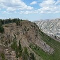 Rock formations along the North Teton Trail.- Table Mountain Loop