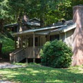 Cottages are available for rent.- Unicoi State Park + Lodge