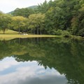 Lake at Unicoi State Park, for swimming, paddling and fishing.- Unicoi State Park + Lodge