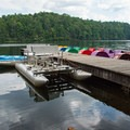 You can rent a paddleboat or kayak, or bring your own.- Unicoi State Park + Lodge