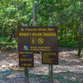 Mooner's Hollow Trailhead sign.- St. Francois State Park Campgrounds