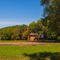 Playground near the baseball field.- St. Francois State Park Campgrounds